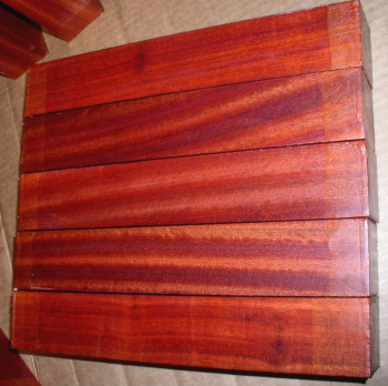 Bloodwood With Deep Red Color Griffin Exotic Wood